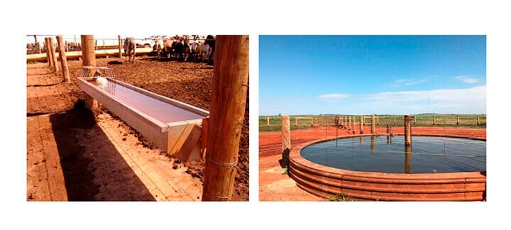 Post: Fornecimento de Água - Bebedouro em área de confinamento e recria.