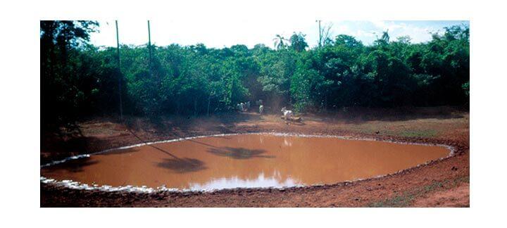 Post: Fornecimento de Água - Aguada natural em má condição.